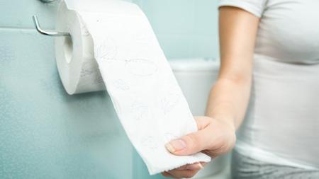 トイレでは不正出血の有無の確認を