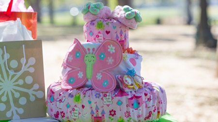 市販のおむつケーキ