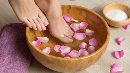 足湯で血行促進