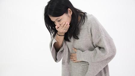 吐きつわりによる喉の痛み