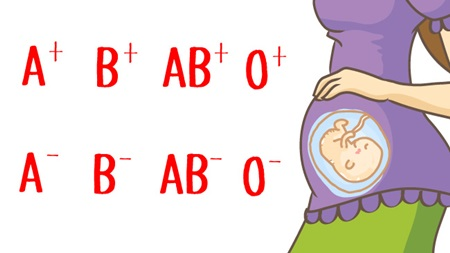 Rh-の妊婦は血液型不適合妊娠検査を