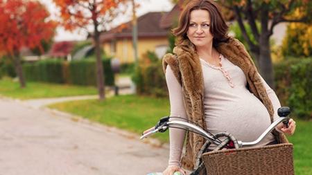 妊婦は意外と自転車に乗っている?