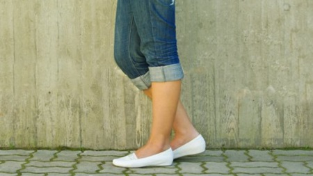 フラットな靴(妊娠初期の靴)